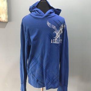 Men's American Eagle long sleeve tee hoodie sz M